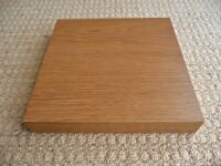 25 X 25 X 3.7 cm Beech Effect Floating Square Shelf Shelving Bedroom Living Dining Room etc
