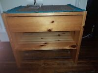 Small wooden table with drawer