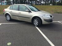 CHEAP 57 PLATE RENAULT MEGANE 1.6 PETROL .. LOW MIL 65K-- LONG MOT -- ONLY ONE PREVIOUS OWNER