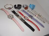 Selection Bundle Of 10 Ladies Women's Watches