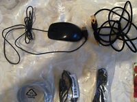 Logitech mouse and cables bundle