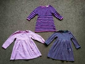 Three Girls JoJo Maman Bebe dresses Size 18 - 24 mths
