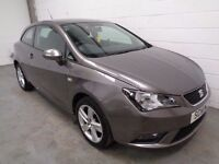 SEAT IBIZA , 2014 , ONLY 23000 MILES + HISTORY , HUGE SPEC , FINANCE AVAILABLE , WARRANTY , LIKE NEW