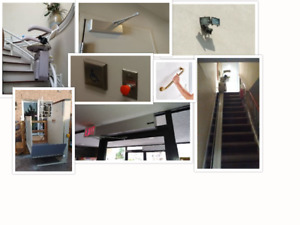 Stairlifts, porchlifts, door openers, grab bars, lights, telecab
