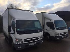 Mitsubishi Fuso Canter Box Vans Choice of two.