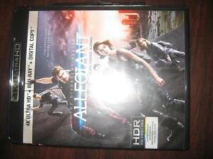 Divergent Series: Allegiant (4K Ultra HD Blu Ray DVD Combo) Action and Adventure Movie. Film. Book of Veronica Roth