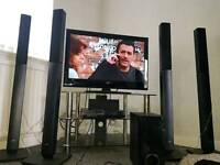 LG surround sound system with DVD/blue ray player