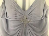 Lilac/grey bridesmaid dress worn once been dry cleaned.