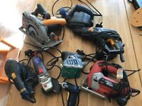Selection of 240v domestic power tools