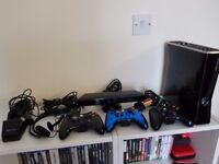 Xbox 360 S 250gb console with Kinect, accessories and games