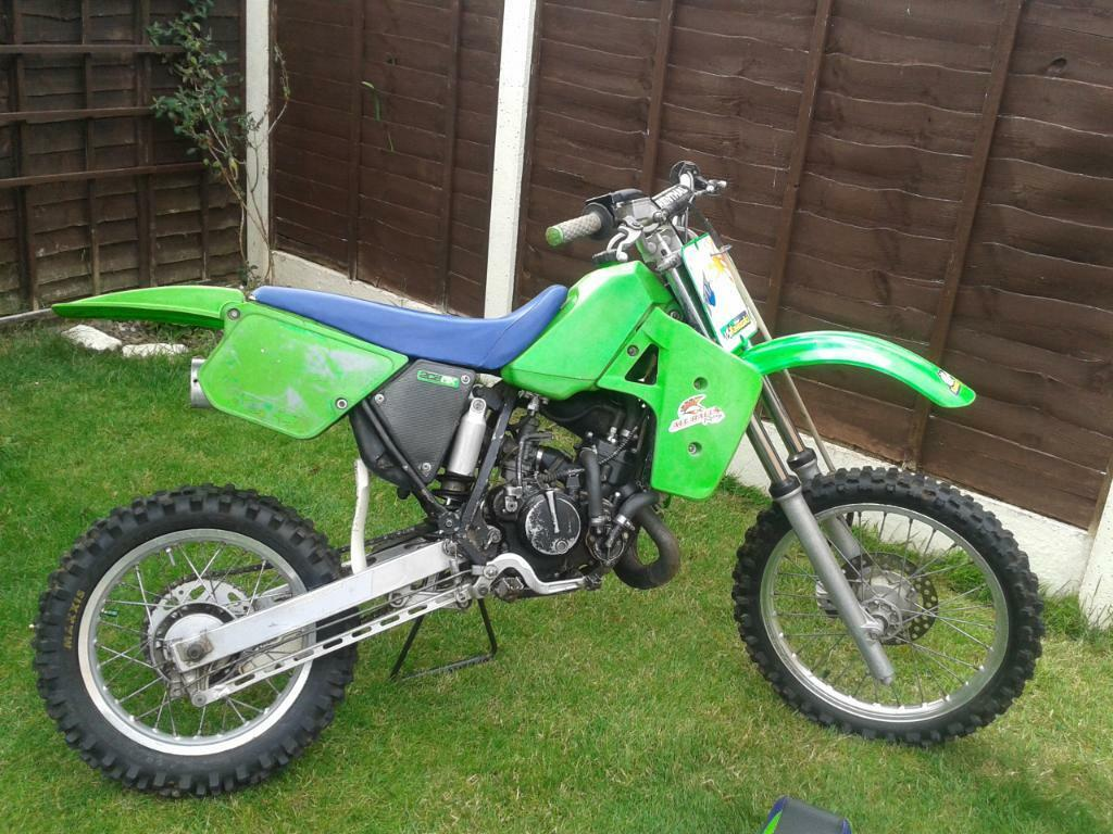for sale kawasaki 80cc motocross bike small wheel great fun in leominster herefordshire. Black Bedroom Furniture Sets. Home Design Ideas