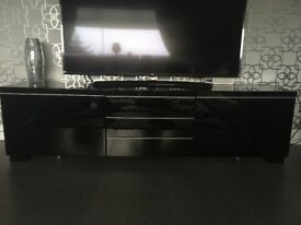 Black high gloss IKEA tv unit