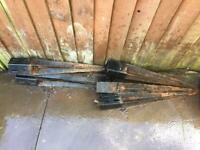 Free fence posts support spike x6