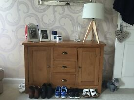 Oak sideboard for sale. Bought in September. £150: offers considered.