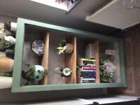 Industrial/ rustic book storage shelves / rack