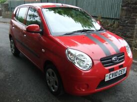 Kia Picanto Strike 5 door 10 reg.1 local lady owner.12 months mot.service history £30 pa.road tax.