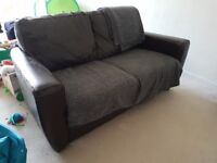 2 seat leather sofa. Free to collect.