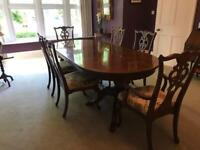 GRAND! Dining Table & 6 Chairs (Georgian style)