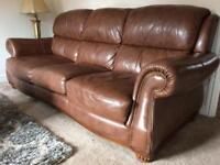 Beautiful leather sofa and chair