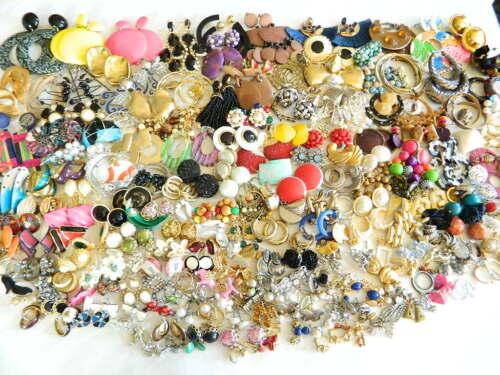 200+ Pairs Vintage Modern Earrings Lot Berebi Monet Robert Rose Germany