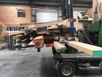 Job Lot - Solid Mixed Hardwood Offcuts - Mainly American Oak/Idigbo/Ash