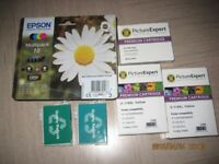 Various Epson printer ink cartridges suitable for Expression home printers