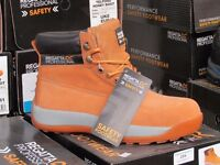 BNIB REGATTA SAFETY BOOTS . Quality boots easy to wear safe for site work