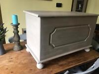 Up Cycled Solid Pine Blanket Box/Storage Chest
