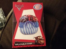 Child/Toddler Disney Pixar Cars inflatable toy chair. Brand new, unused and boxed
