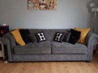 2 x 3 seater chesterfield sofas