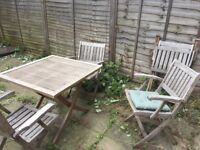 4x Garden Chairs (cushions incl)