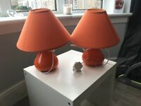Orange table lamps