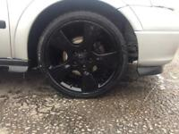 17inch 5 stud Vauxhall alloy wheels in black