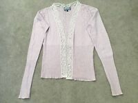 Women's pretty lilac & lace twin cardigan & matching camisole