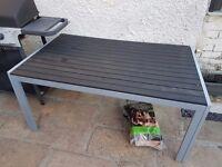 Black garden table