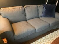 Grey 3 seater IKEA sofa for sale - 1.5yrs old