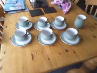 Green regency denby cups