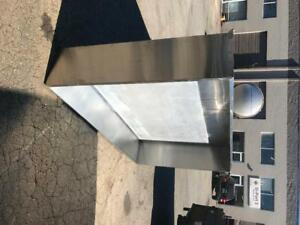 8' Stainless steel restaurant vent hood - pizza - ovens