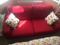 FREE Large DFS red sofa