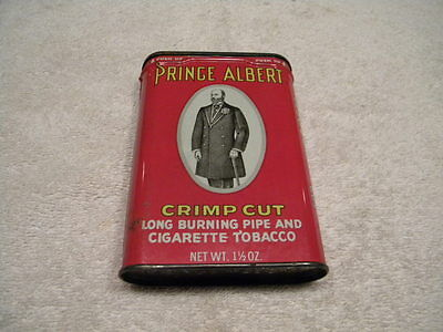NOS/New Original Prince Albert Crimp Cut Pipe & Cigarette Tobacco Metal Tin/Can
