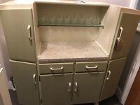 Vintage kitchen dresser cupboard unit storage 50s