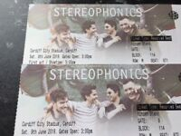 2 x Stereophonics seated tickets