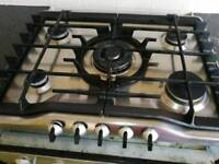 Build-in oven and gas hob