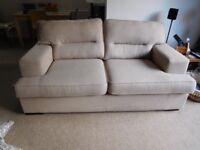 2 seater Light Beige Sofa / Settee DFS