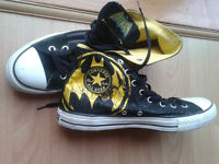 Pair of Converse Batman All-Star boots - Worn once - As new Size 10