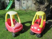 2 x Little Tikes Red Cars