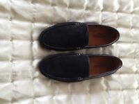 Men's black suede loafers size 10