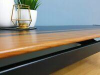 John Herbert Danish style Long John table - Designer mcm 1960's Younger coffee table