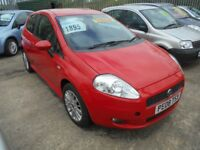 FIAT PUNTO GRANDE 1.4 ACTIVE 3DR 2008 MODEL 6 SPEED GEARBOX 12 MONTHS MOT ON PURCHASE,LOW INSURANCE