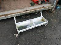 3ft hang on feed trough farm livestock tractor